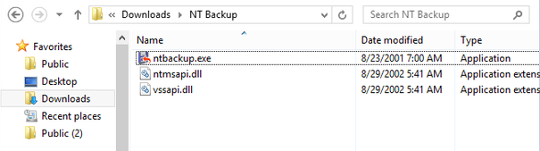 Open Windows XP Backup in Windows 10 - BKF Recovery Software